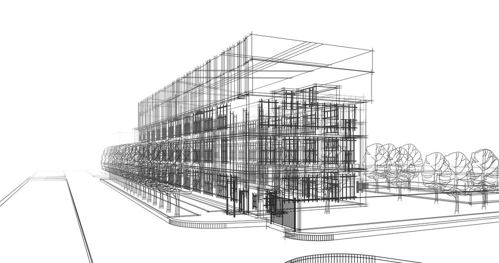 illustration design bâtiment