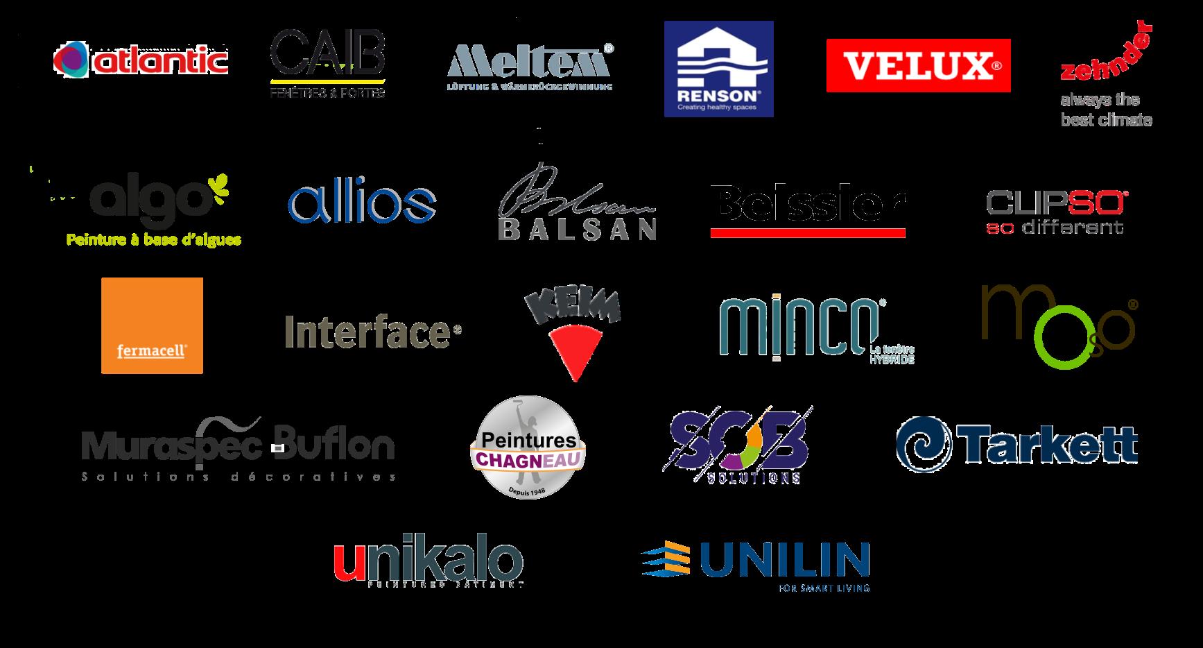 représentation des logos des partenaires